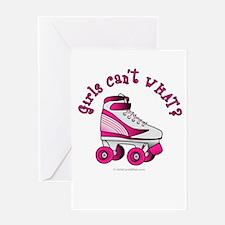 Pink Roller Derby Skate Greeting Card