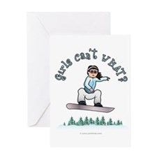 Light Snowboarding Greeting Card