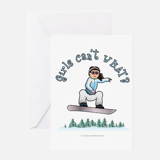 Light Snowboarding Greeting Card