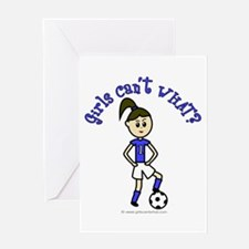 Light Blue Soccer Greeting Card