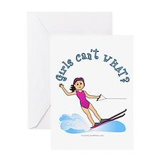 Light Water Skiing Greeting Card