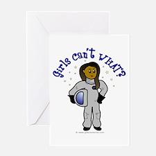 Dark Astronaut Greeting Card