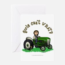 Light Green Farmer Greeting Card