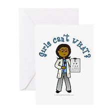 Dark Optometrist Greeting Card
