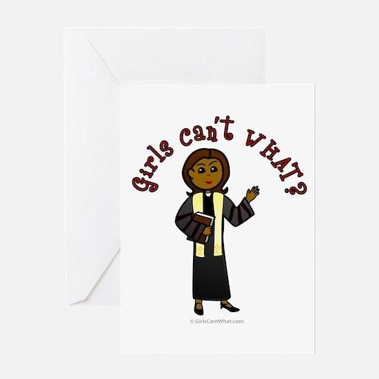 Dark Preacher Greeting Card