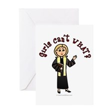 Blonde Preacher Greeting Card