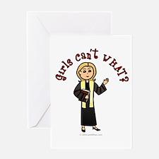 Blonde Preacher Greeting Card