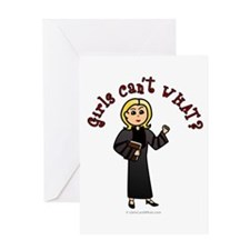 Blonde Pastor Greeting Card