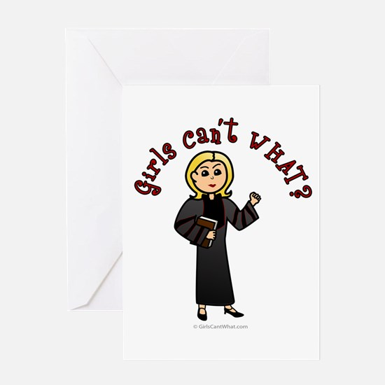 Blonde Pastor Greeting Card