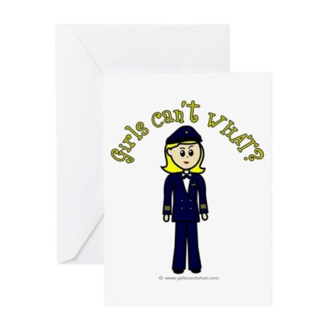 Light Airline Pilot Greeting Card