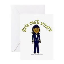 Dark Airline Pilot Greeting Card