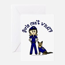 Light K-9 Police Greeting Card