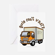 Dark Truck Driver Greeting Card