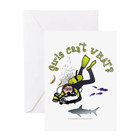 Light Diver Greeting Card