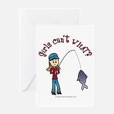 Light Fishing Greeting Card