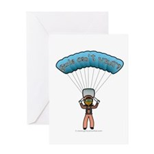Dark Sky Diver Greeting Card