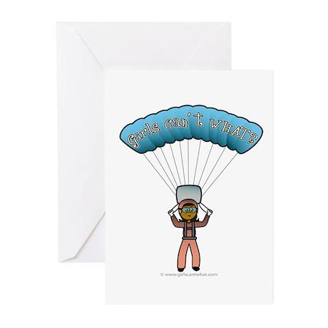 Dark Sky Diver Greeting Cards (Pk of 10)