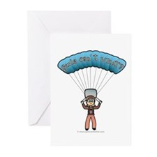 Blonde Sky Diver Greeting Cards (Pk of 20)