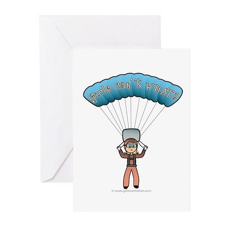 Blonde Sky Diver Greeting Cards (Pk of 20)