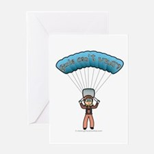 Blonde Sky Diver Greeting Card