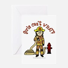 Personalized Firefighter Greeting Card