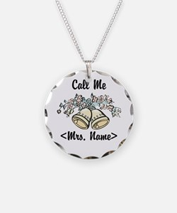 Custom Just Married (Mrs. Name) Necklace
