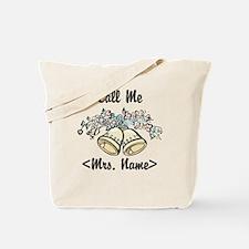 Custom Just Married (Mrs. Name) Tote Bag