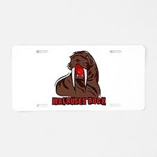 Walruses Rock Walrus Aluminum License Plate