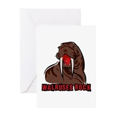 Walruses Rock Walrus Greeting Card