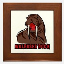 Walruses Rock Walrus Framed Tile