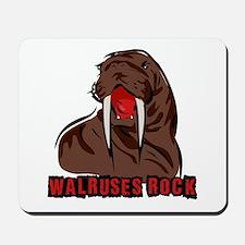 Walruses Rock Walrus Mousepad