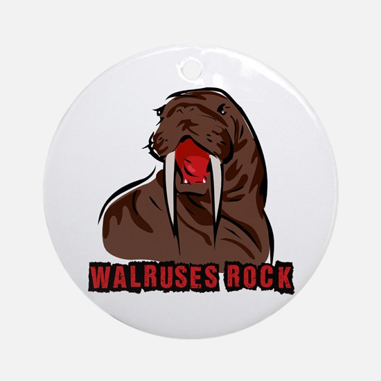 Walruses Rock Walrus Ornament (Round)