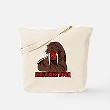 Walruses Rock Walrus Tote Bag