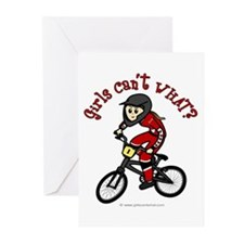 (light) Dirt Diva BMX Greeting Cards (Pk of 10)