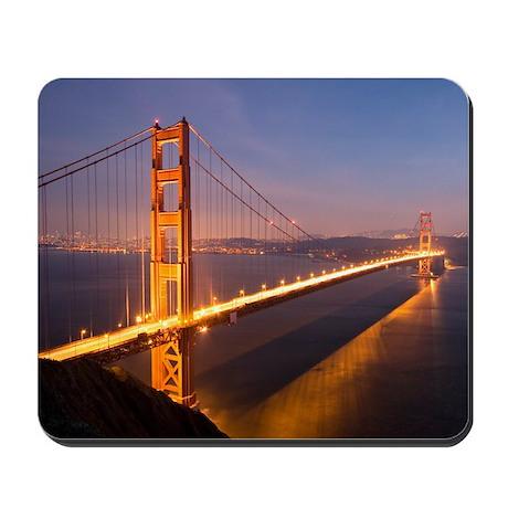''Night at the Golden Gate Bridge'' Mousepad