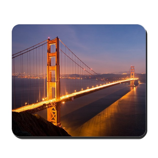 39 39 night at the golden gate bridge 39 39 mousepad by appacadappa for Golden gate bridge jewelry