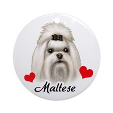 Maltese! Ornament (Round)