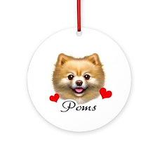 Pomeranian! Ornament (Round)
