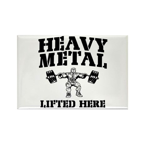 Heavy Metal Lifted Here Weightlifting Rectangle Ma