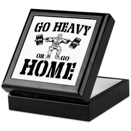Go Heavy Or Go Home Weightlifting Keepsake Box