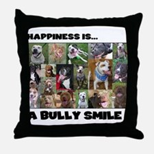 Bully Smiles! Throw Pillow