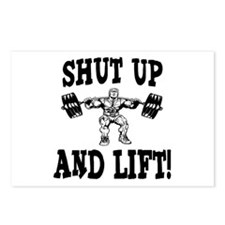 Shut Up And Lift Weightlifting Postcards (Package