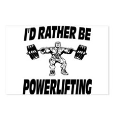 I'd Rather Be Powerlifting Weightlifting Postcards