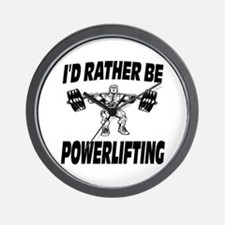 I'd Rather Be Powerlifting Weightlifting Wall Cloc