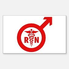 Murse Male Nurse Symbol Decal