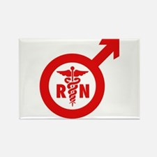 Murse Male Nurse Symbol Rectangle Magnet (100 pack