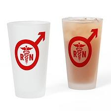 Murse Male Nurse Symbol Drinking Glass