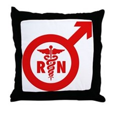Murse Male Nurse Symbol Throw Pillow