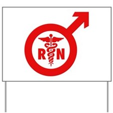 Murse Male Nurse Symbol Yard Sign