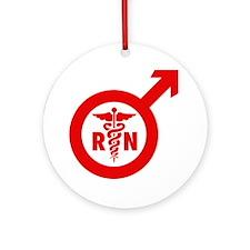 Murse Male Nurse Symbol Ornament (Round)